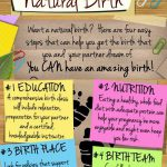 4 steps to a natural birth