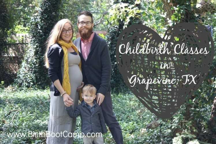 Julia West teaches childbirth classes in Grapevine, TX