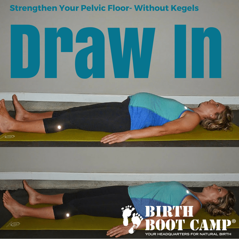 Draw in exercise to strengthen the pelvic floor