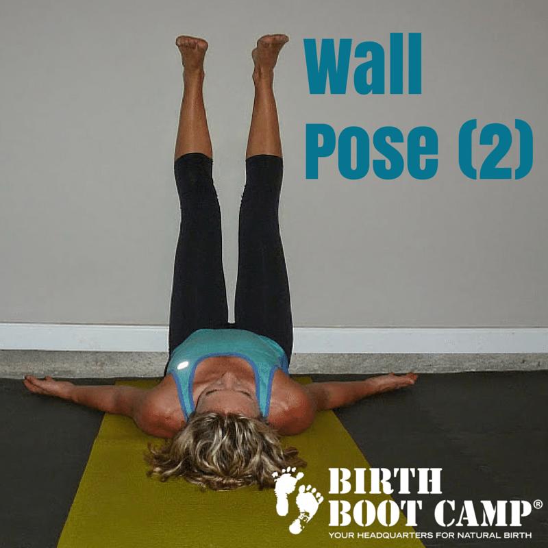 Wall Pose strengthen your pelvic floor