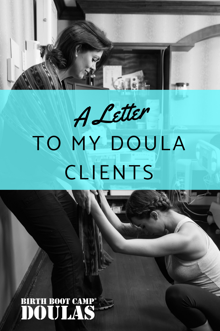 A Letter to my Doula Clients