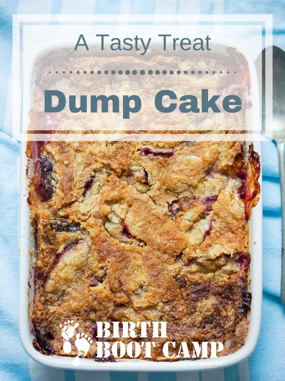 A dump cake with cherries and pineapple
