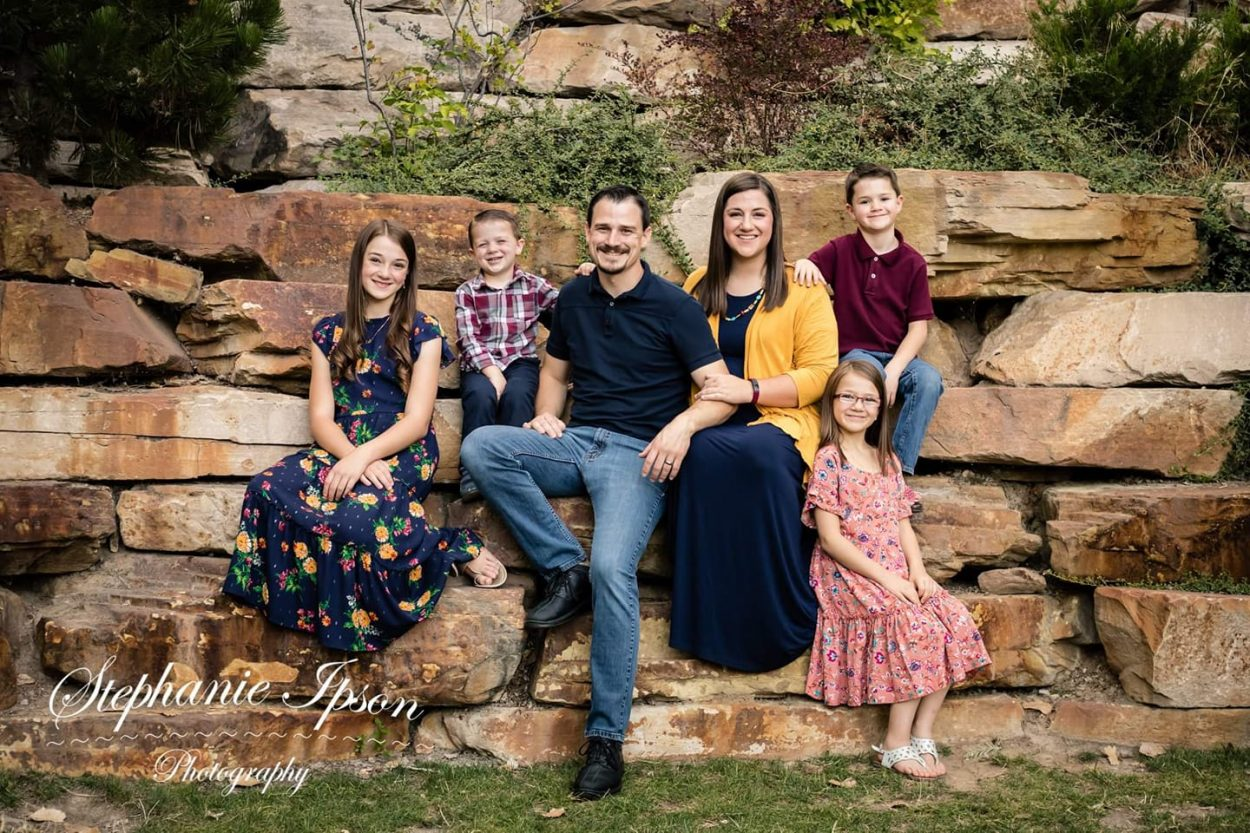 Caryn Allen's family. She is a doula and childbirth educator in Provo, UT