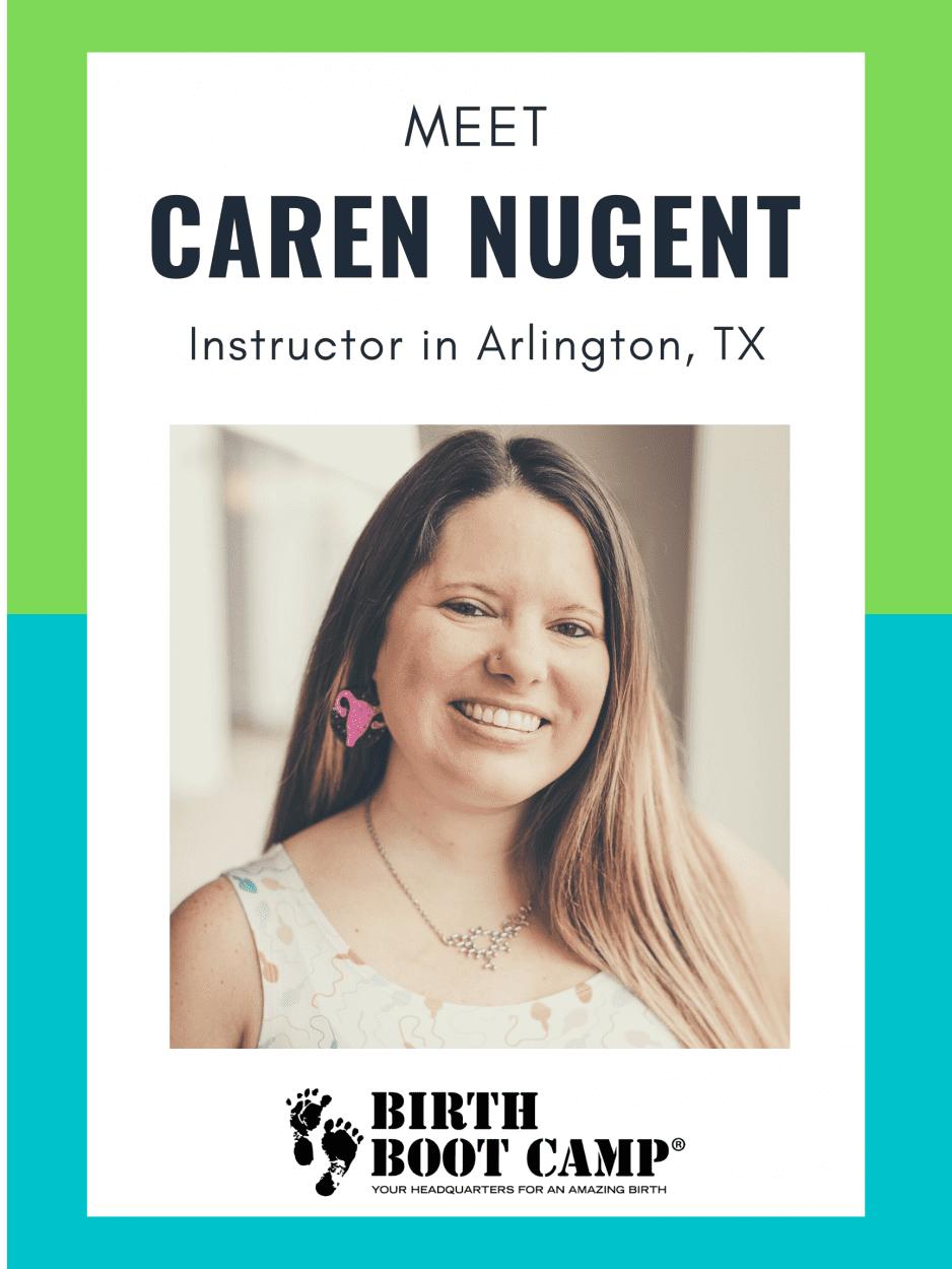 Spotlight of Caren Nugent, childbirth educator in Arlington, Texas