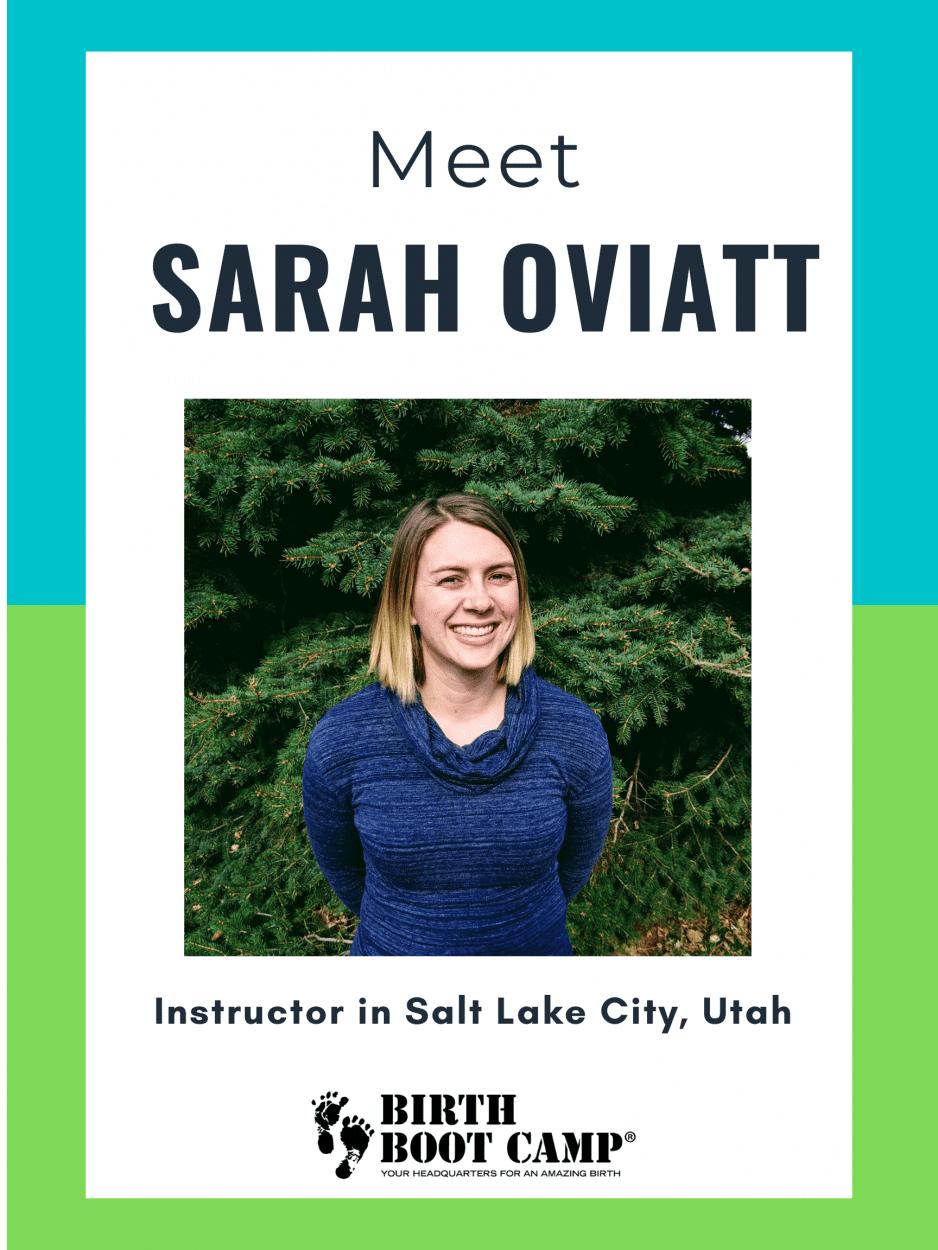Spotlight of certified childbirth educator Sarah Oviatt in Salt Lake City