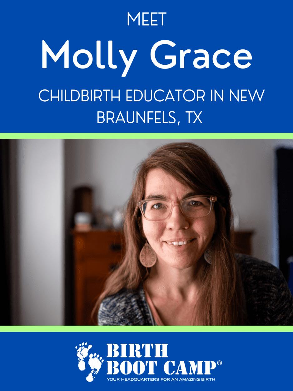 Molly Grace, childbirth educator in New Braunfels Texas