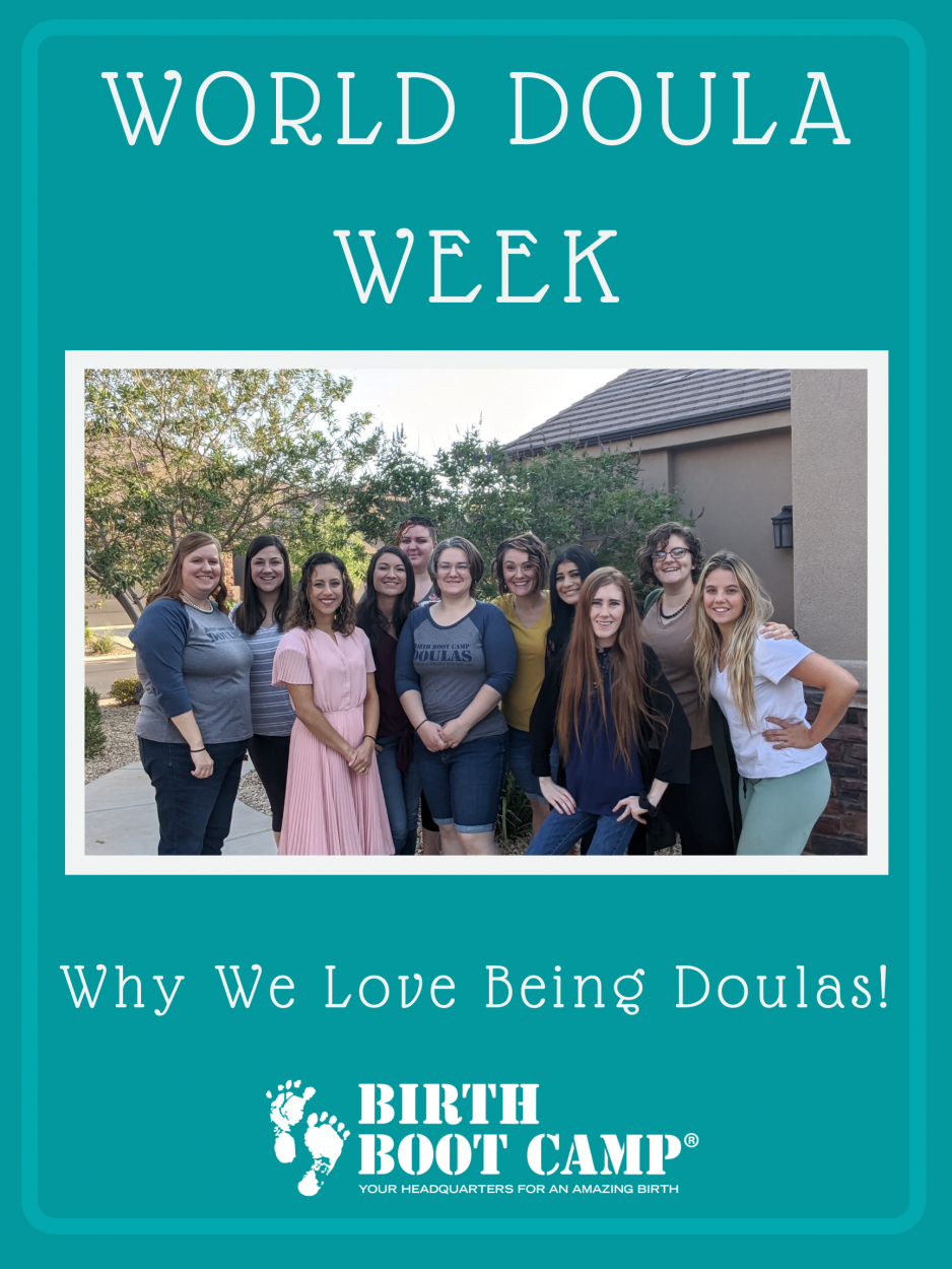 A group of women standing in front of a big bush after their doula training